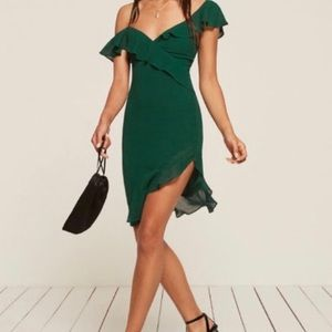 Reformation Silk Crepe Dress